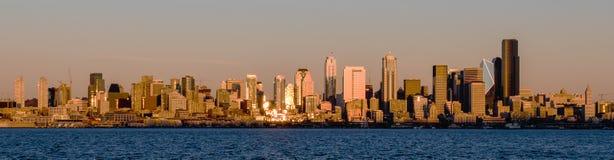 Seattle-Stadtbild von West-Seattle Stockfotografie