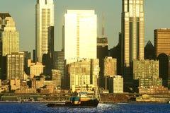 Seattle-Stadtbild von West-Seattle Stockfotos