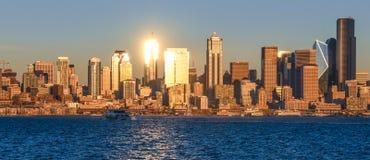 Seattle-Stadtbild von West-Seattle Lizenzfreies Stockfoto