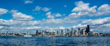 Seattle-Stadtbild von West-Seattle Stockbilder