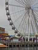 Seattle stort hjul arkivbild