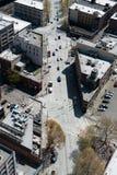 Seattle-Straßenbild von der Luft Stockbilder