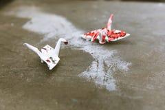 Seattle Street Art. Paper Swan Royalty Free Stock Photo
