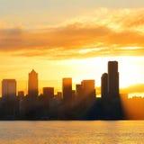 Seattle sunrise Royalty Free Stock Photos