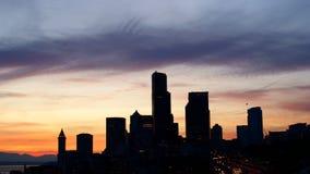 Seattle sunset Royalty Free Stock Photography