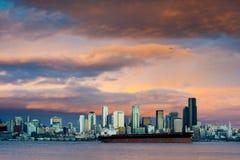 Seattle Sunset Stock Photo