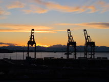 Seattle Sunset Royalty Free Stock Images
