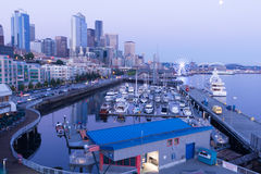 Seattle at Sunset Royalty Free Stock Photography