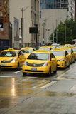 Seattle Taxi traffic Royalty Free Stock Photo