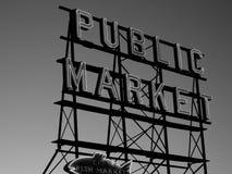 Seattle& x27; tecken för offentlig marknad för s fotografering för bildbyråer