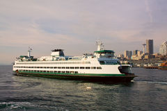 Seattle to Bremerton Ferry. The Seattle to Bremerton Ferry on a bright sunny day Stock Images
