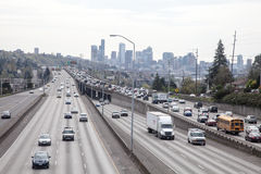 Seattle Traffic, I5 from 45th Street Bridge Royalty Free Stock Images