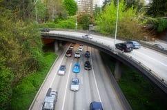 Seattle trafik Arkivbild