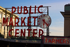 SEATTLE, USA - MARCH 25, 2016: Pike Place Market on March 25, 2014 in Seattle, USA. Royalty Free Stock Photos