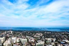 Seattle, usa, Sierpień 31, 2018: Seattle linia horyzontu USA fotografia stock