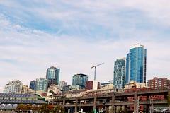 Seattle, usa, Sierpień 30, 2018: Widok drapacz chmur w Seattle obrazy royalty free