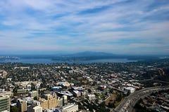 Seattle, usa, Sierpień 30, 2018: Widok z lotu ptaka Seattle miasto obraz stock