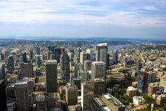 Seattle, usa, Sierpień 31, 2018: Widok w centrum Seattle zdjęcia stock