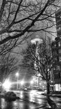 Seattle utrymmevisare på en vinternatt royaltyfri fotografi