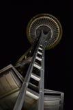 Seattle utrymmevisare på natten, Seattle, Washington Fotografering för Bildbyråer