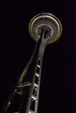 Seattle utrymmevisare på natten, Seattle, Washington Royaltyfri Bild