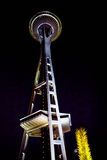 Seattle utrymmevisare på natten, Seattle, Washington Royaltyfria Foton