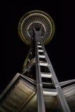 Seattle utrymmevisare på natten, Seattle, Washington Arkivbilder