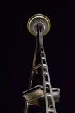Seattle utrymmevisare på natten, Seattle, Washington Royaltyfri Foto