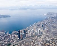 Seattle van de binnenstad Stock Foto's
