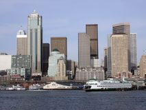 Seattle van de binnenstad, WA Royalty-vrije Stock Foto's