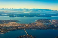 Seattle van de lucht stock foto