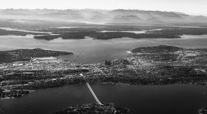 Seattle van lucht Stock Fotografie