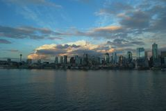 Seattle. View of Seattle from the ferry Stock Images