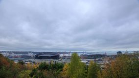 Seattle view timelapse. A timelapse with Seattle view and moving clouds, Washington stock footage