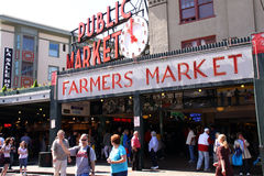 Seattle - Visiting Pike Place Public Market royalty free stock photography