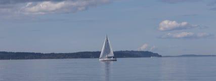 Seattle-vista do parque da descoberta fotografia de stock