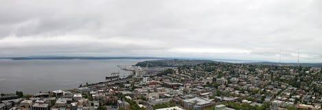 Seattle w centrum Panorama Waszyngton obrazy royalty free