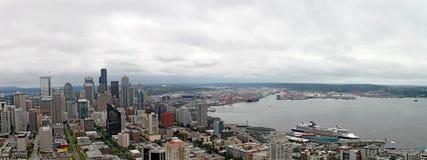 Seattle w centrum Panorama Waszyngton zdjęcia stock
