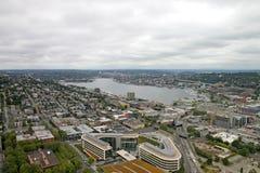 Seattle w centrum Panorama Waszyngton zdjęcie royalty free