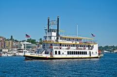 SEATTLE, WA â 24 AUGUSTUS Koningin â van de Reizen van Seattle Paddleboat Stock Foto's