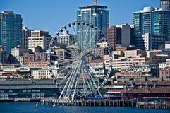 SEATTLE WA – AUGUSTI 2 – Seattle det stora hjulet slår 1 miljon Fotografering för Bildbyråer