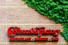 Seattle, WA - April 8, 2017: The Cheesecake Factory restaurant sign royalty free stock photos