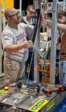 SEATTLE, WA - concurrence de l'adolescence de robotique d'état photo libre de droits