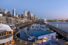 Seattle, WA, de V.S. - 17 Februari, 2015 De waterkant is de populairste toerismeaantrekkelijkheid in Seattle, WA Stock Fotografie