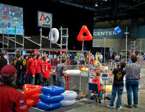 SEATTLE, WA - MARCH 17 - Teen Robotics Competition. SEATTLE, WA - MARCH 17: Teens competed at a state level competition for science and technology robotics stock images
