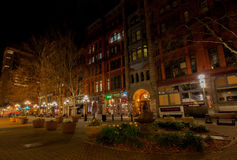 SEATTLE, WA - March 23, 2011. Pioneer Square. Downtown. Royalty Free Stock Photos