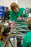 SEATTLE, WA - MARCH 17 - State Teen Robotics Competition stock photos