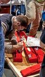 SEATTLE WA - MARS 17 - statlig tonårig robotteknikkonkurrens Arkivfoto
