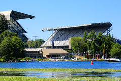 Seattle, WA - Marzec 23, 2011: University Of Washington - husky stadium Obraz Royalty Free