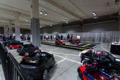 SEATTLE, WA - 12. NOVEMBER 2017: Seattle-International-Automobilausstellung Lizenzfreie Stockfotografie